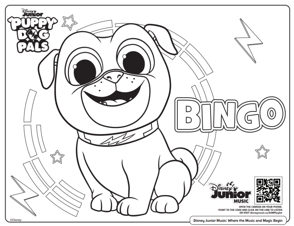 puppy dog pals coloring page
