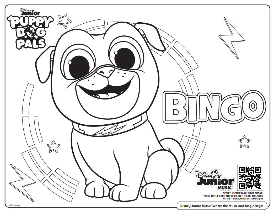 Free Printable Disney Junior Coloring Pages (+ Disney Music ... | 804x1045
