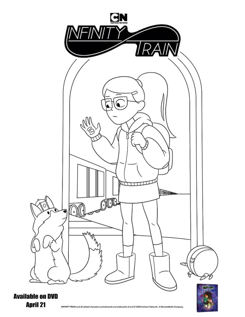 infinity train coloring page