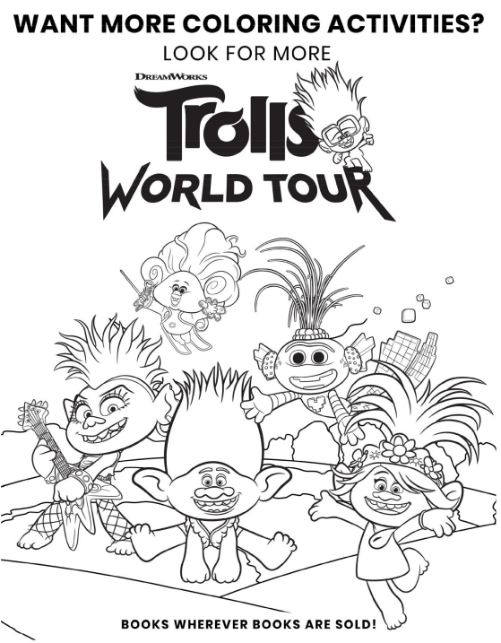 - Free Printable Trolls World Tour Party Pack With Activity & Coloring Pages