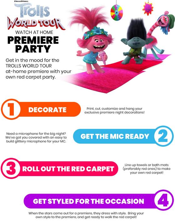 trolls world party premiere