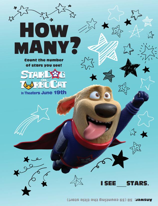 stardog and turbocat activity sheet