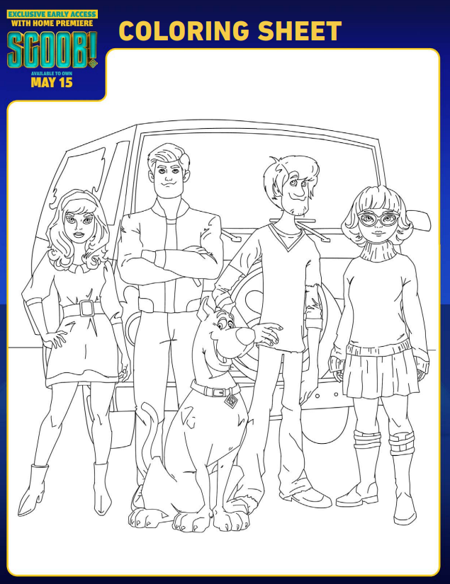 scoob coloring page