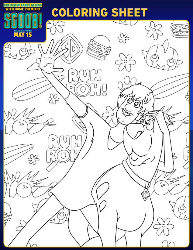 Free Printable SCOOB! Party Pack With Activities ...