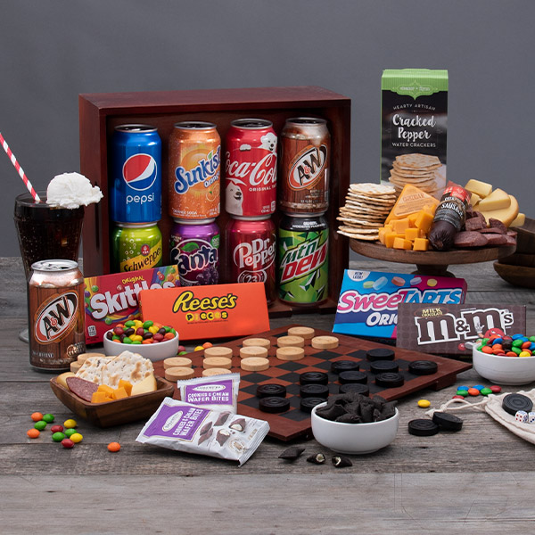game night gift crate