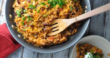 cheesy beef skillet