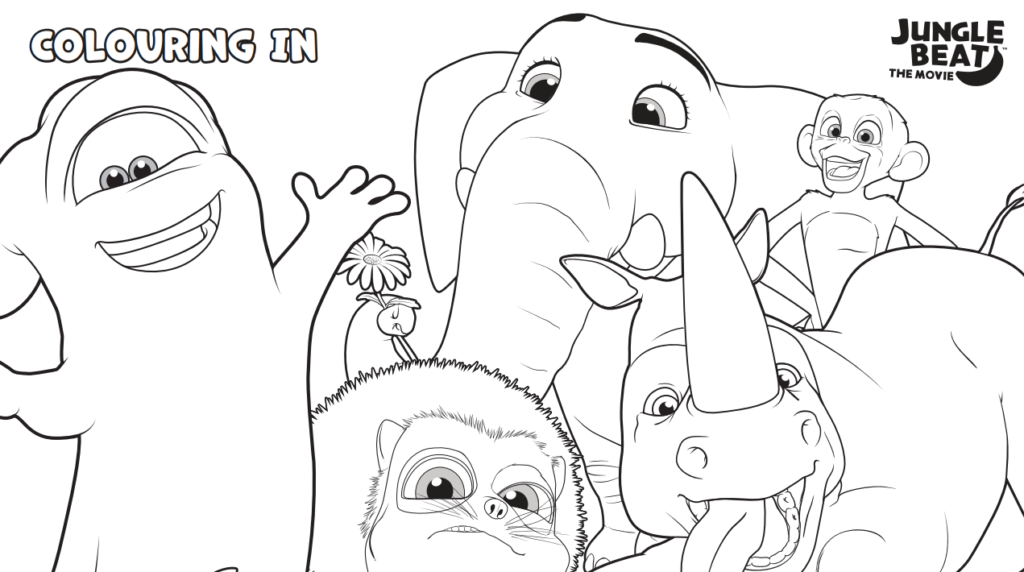 jungle beat the movie coloring page