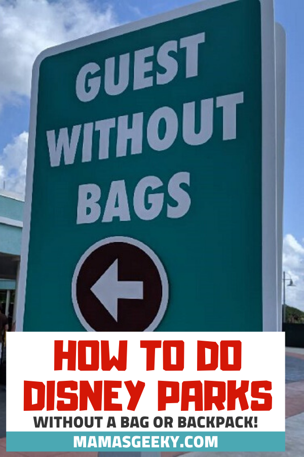 disney parks without a bag