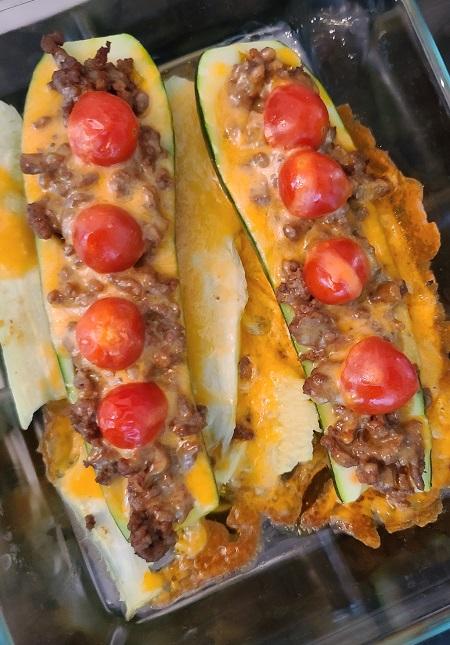keto zucchini taco boats