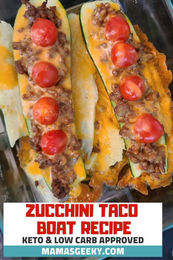 keto zucchini taco boat recipe