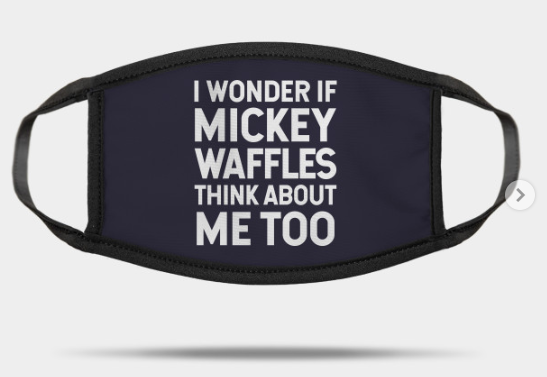 mickey waffles mask