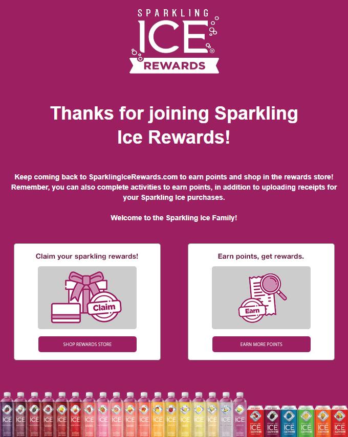 sparkling ice rewards