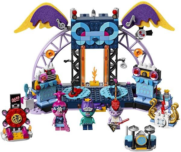 LEGO trolls world tour volcano city concert