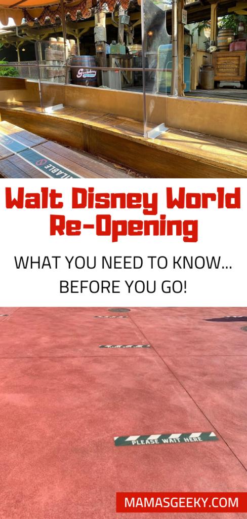 walt disney world re-opening