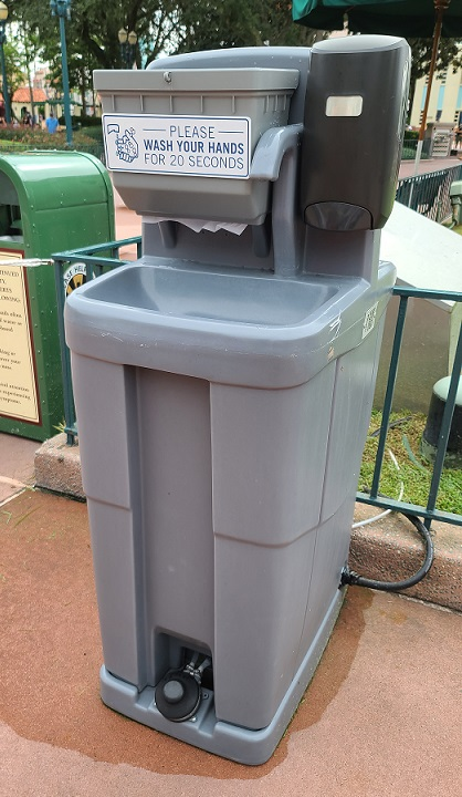 disney world hand washing