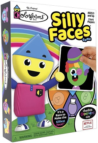 colorforms silly face game