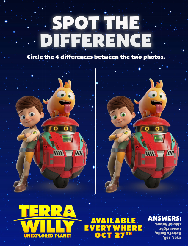 terra willy spot the difference