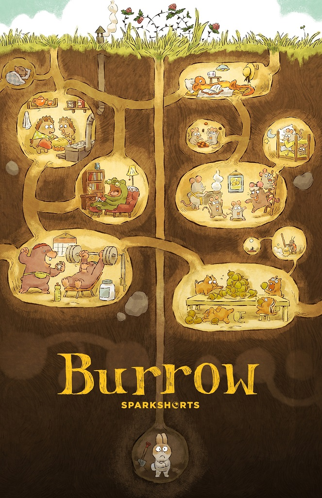 pixar's burrow sparkshorts poster