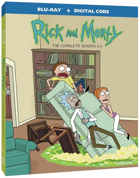rick and morty season 1-4 blu-ray
