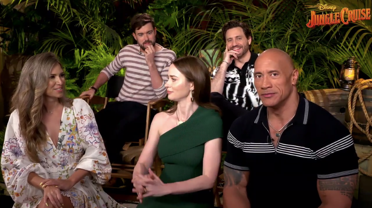 jungle cruise cast interview