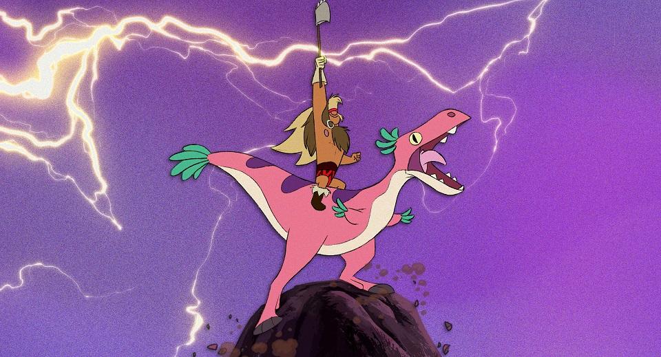 dinosaur barbarian disney plus
