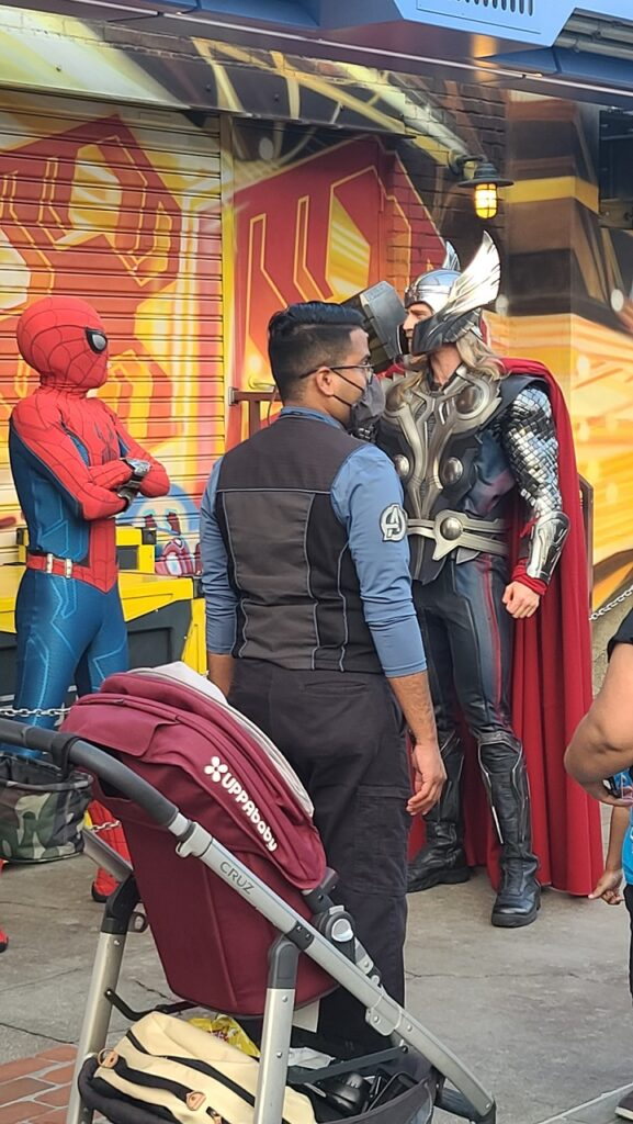Avengers Campus Spider-Man and Thor